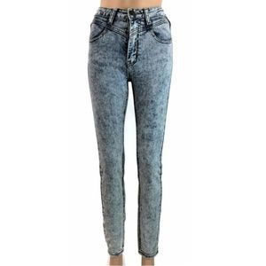 Machine Jeans Skinny High Waist Distressed Denim